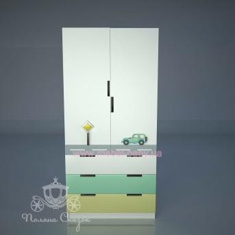 Шкаф двухстворчатый с ящиками Грузовичок
