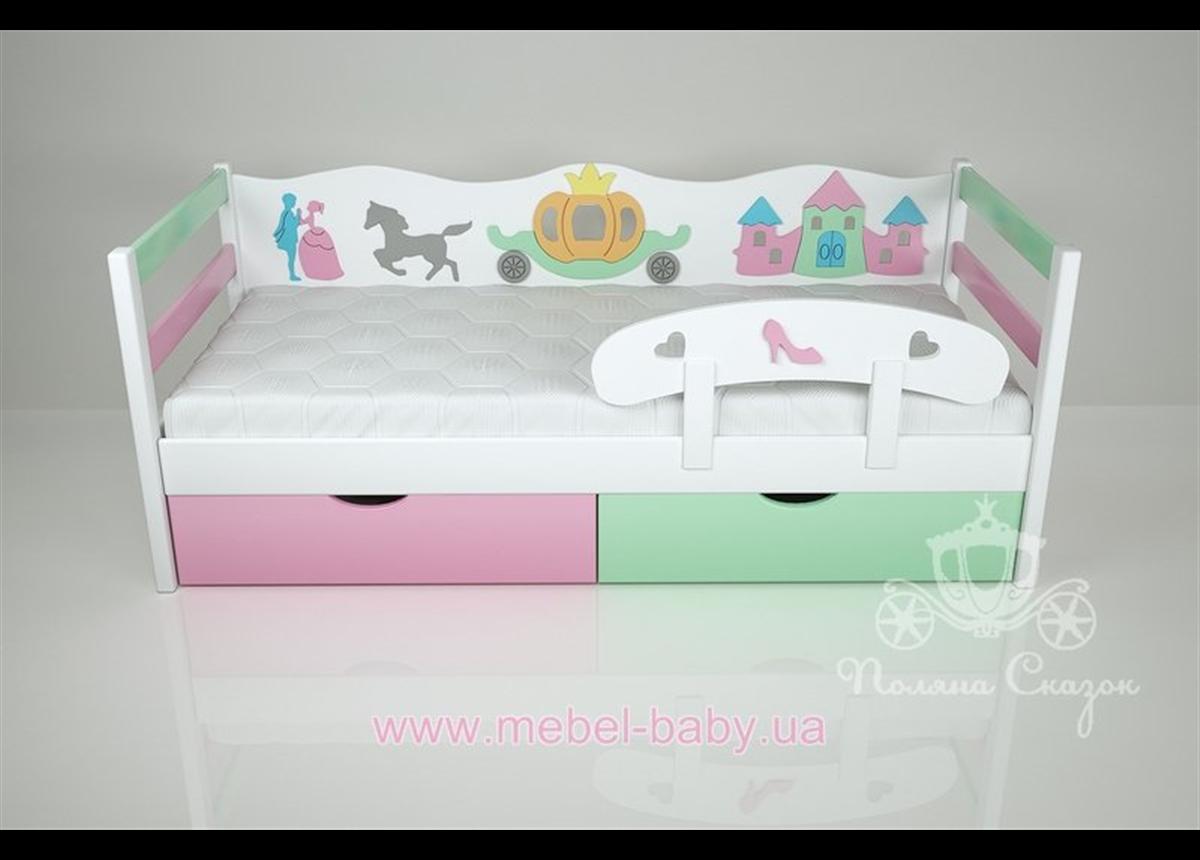 Кроватка детская декорированные Золушка/Mix