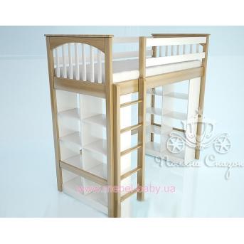 Кровать-чердак 2100 Гармония White