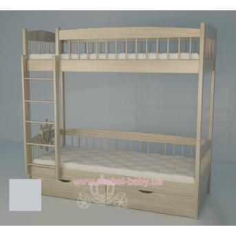 Двухъярусная кровать 2200 Кантри White Поляна сказок 80х180 Дерево