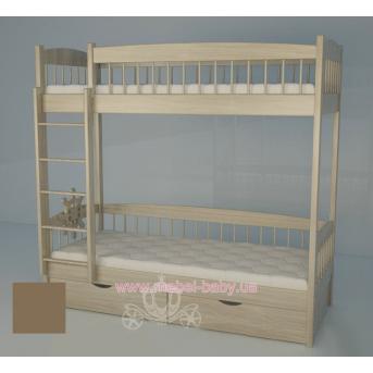 Двухъярусная кровать 2200 Кантри Brown Поляна сказок 80х180 Дерево