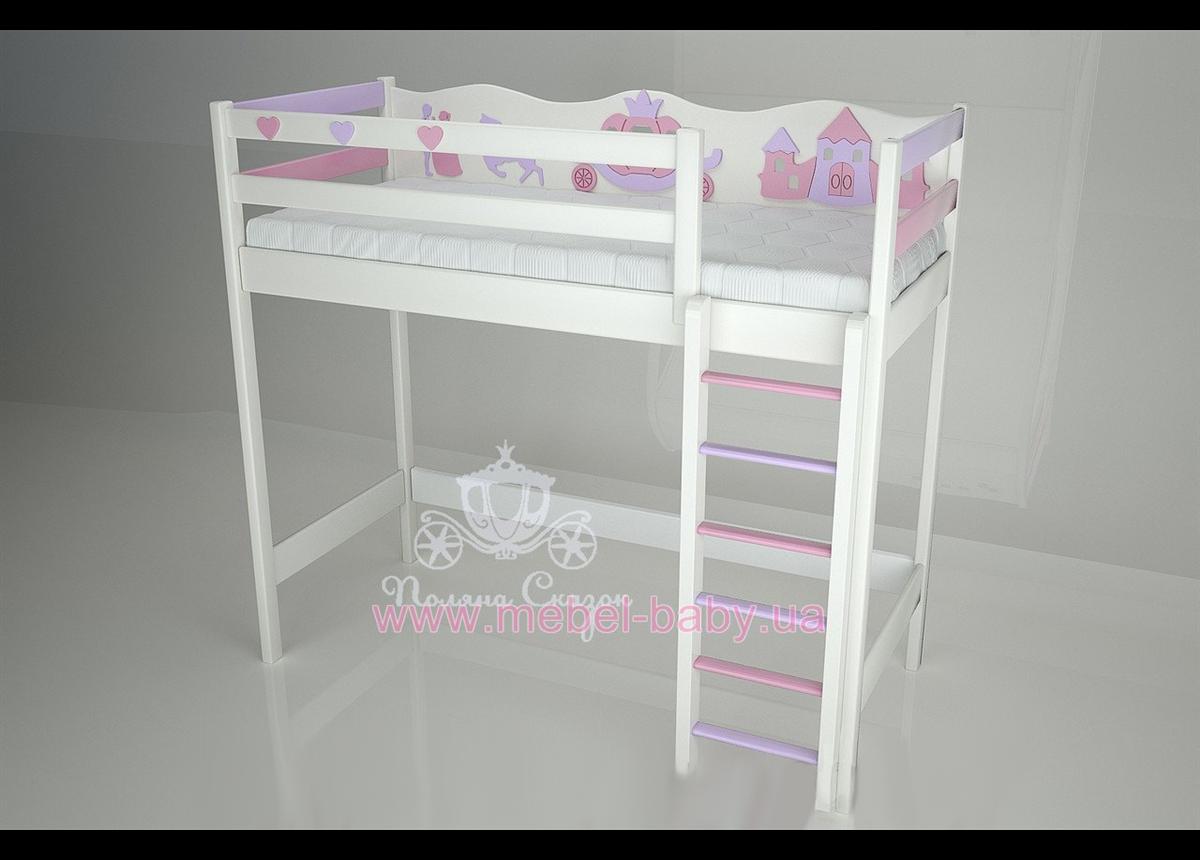 Кровать-чердак - 1200 Золушка (Pink/cream)