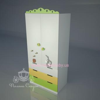 Шкаф двухстворчатый с ящиками Винни и друзья