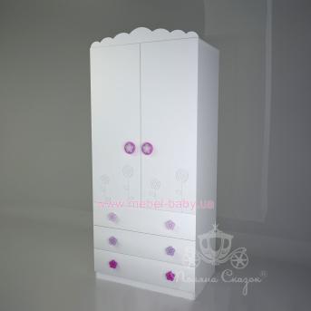 Шкаф двухстворчатый с ящиками Цветочная поляна