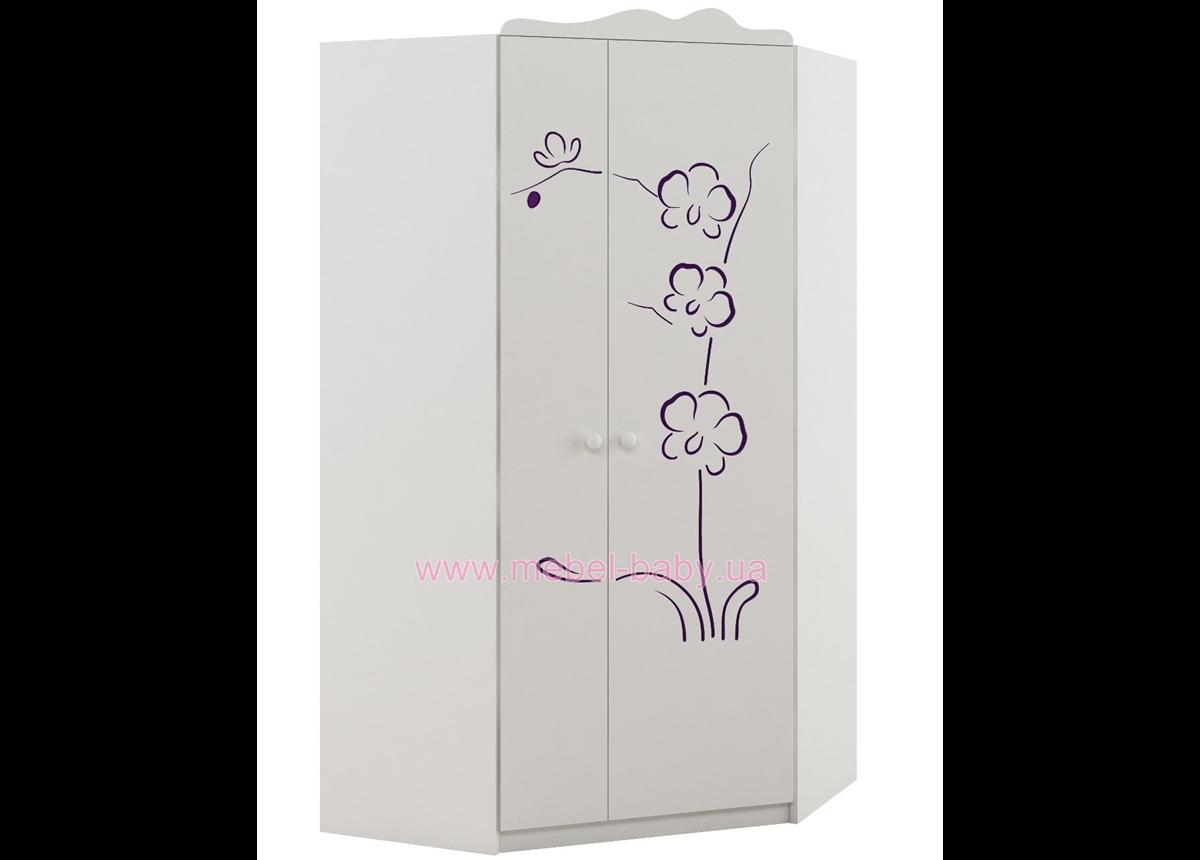 420_Шкаф угловой Серия Orchidea Violet