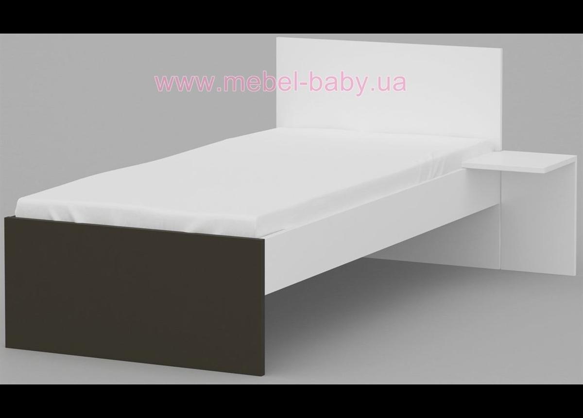 425_Кровать 90х190 Uni Dark