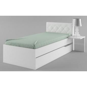 427_Кровать 90х190 мягкое изголовье Магнолия