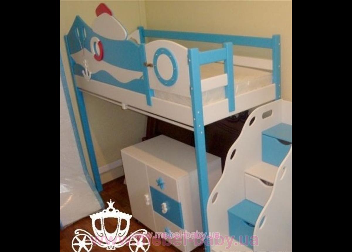 Кровать-чердак - 1200 Катерок (white)