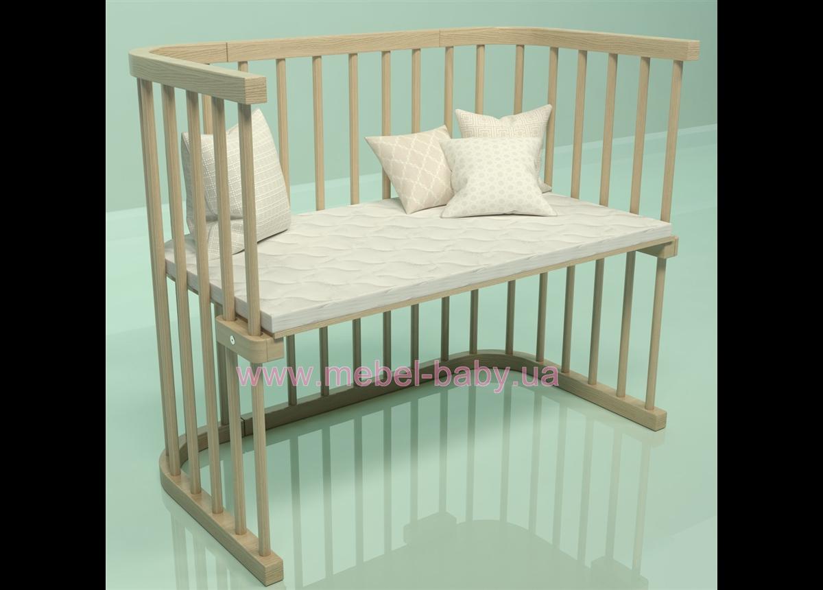 Приставная кроватка для новорожденных Multi-bed Premium макси Поляна сказок Ясень Шлиф 55x100