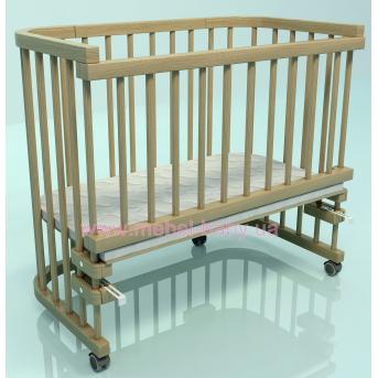 Приставная кроватка для новорожденных Multi-bed Premium макси Поляна сказок Ясень Лак 55x100