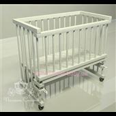 Приставная кроватка для новорожденных Multi-bed Premium макси Поляна сказок Ясень Белый 55x100