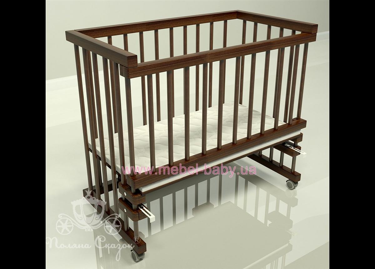 Приставная кроватка для новорожденных Multi-bed Premium макси Поляна сказок Ясень Коричневый 55x100