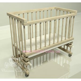 Приставная кроватка для новорожденных Multi-bed Classic стандарт Поляна сказок Ольха Ясень Лак 45х80