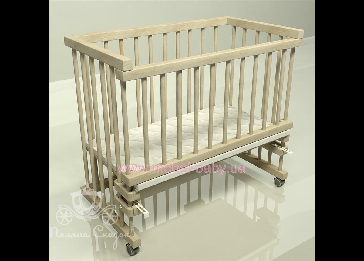 Приставная кроватка для новорожденных Multi-bed Classic макси Поляна сказок Ольха Шлиф 55x100