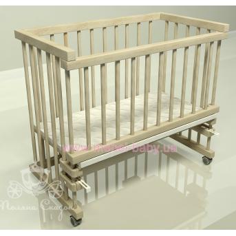 Приставная кроватка для новорожденных Multi-bed Classic макси Поляна сказок Ольха Лак 55x100