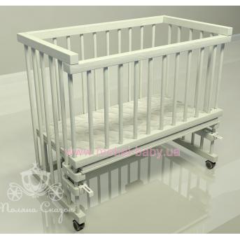 Приставная кроватка для новорожденных Multi-bed Classic макси Поляна сказок Ольха Белый 55x100