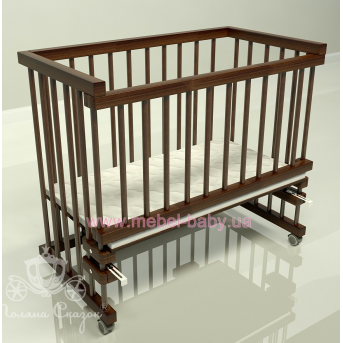 Приставная кроватка для новорожденных Multi-bed Classic макси Поляна сказок Ольха Коричневый 55x100
