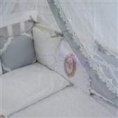 Набор постельного белья Mon Cheri (6 предметов) серый