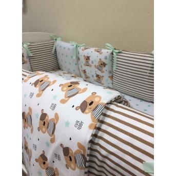 Набор постельного белья Бейби дизайн (7 предметов) № 17 Мишки