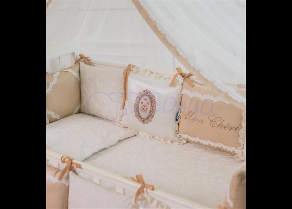 Сменный комплект постельного белья Mon Cheri кофейный