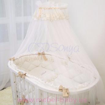 Набор постельного белья Ricci (7 предметов) белый Маленькая Соня