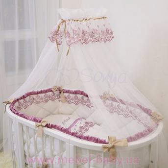 Набор постельного белья Ricci (6 предметов) розовый Маленькая Соня