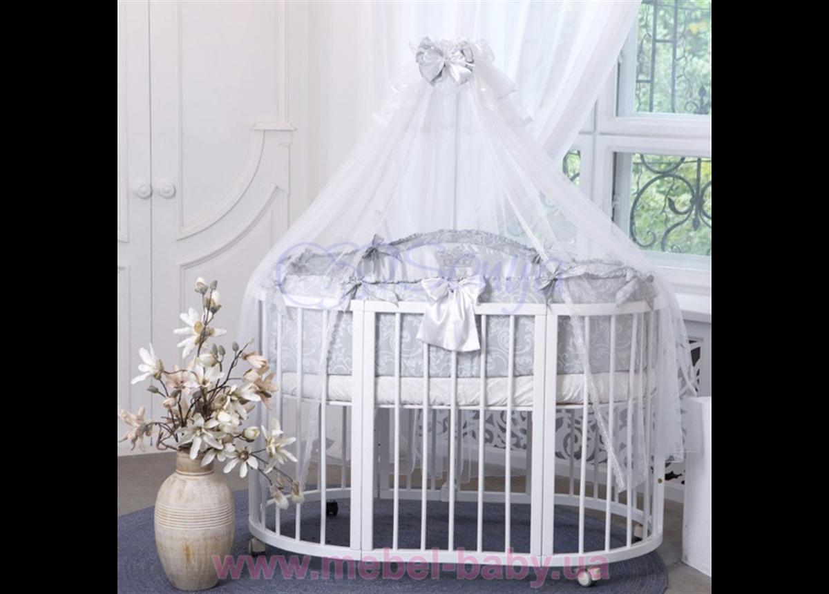 Набор постельного белья All Baby (6 предметов) серый Маленькая Соня