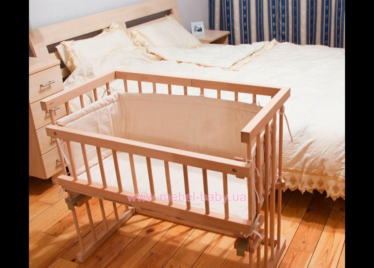 Приставная кроватка для новорожденных Катруся Леля 40x80
