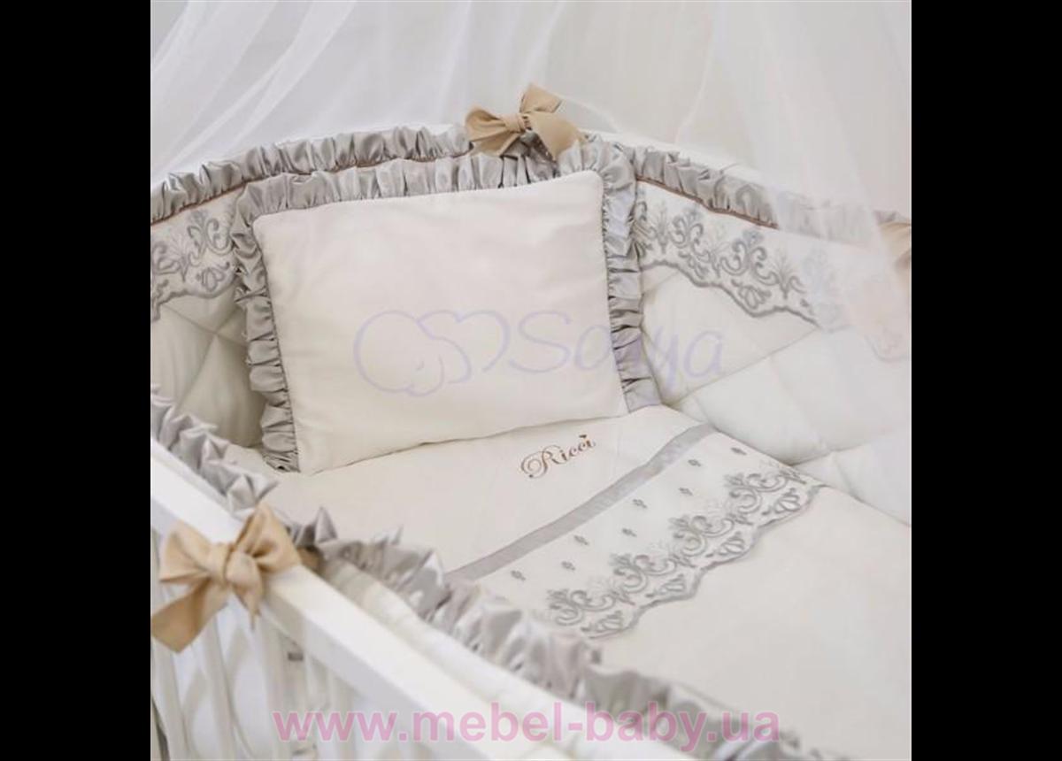 Набор постельного белья Ricci (6 предметов) серый