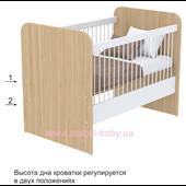 Не качающаяся кроватка для новорожденных Акварели кв-50 Briz Коричневый 60х120