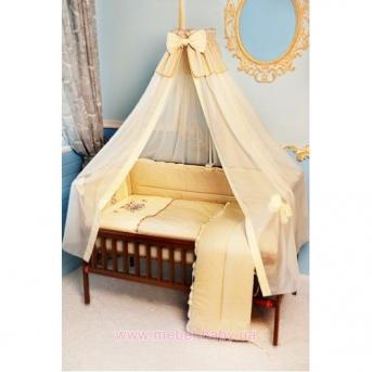 """ДБ026 Спальный набор в детскую кровать """"Пчелка с вышивкой"""""""
