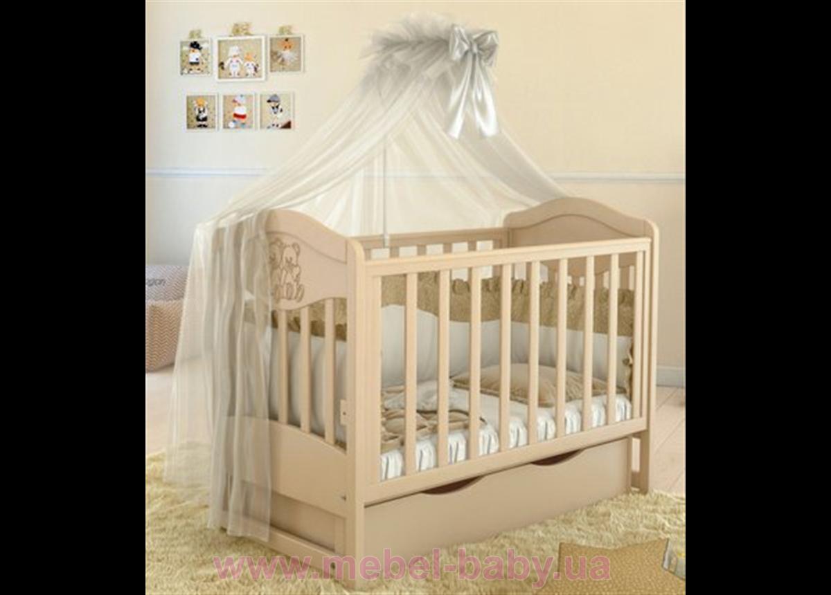 Кроватка детская LUX2 два малыша Angelo 1200x600  крем