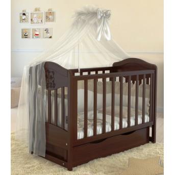 Кроватка детская LUX2 два малыша Angelo 1200x600 орех