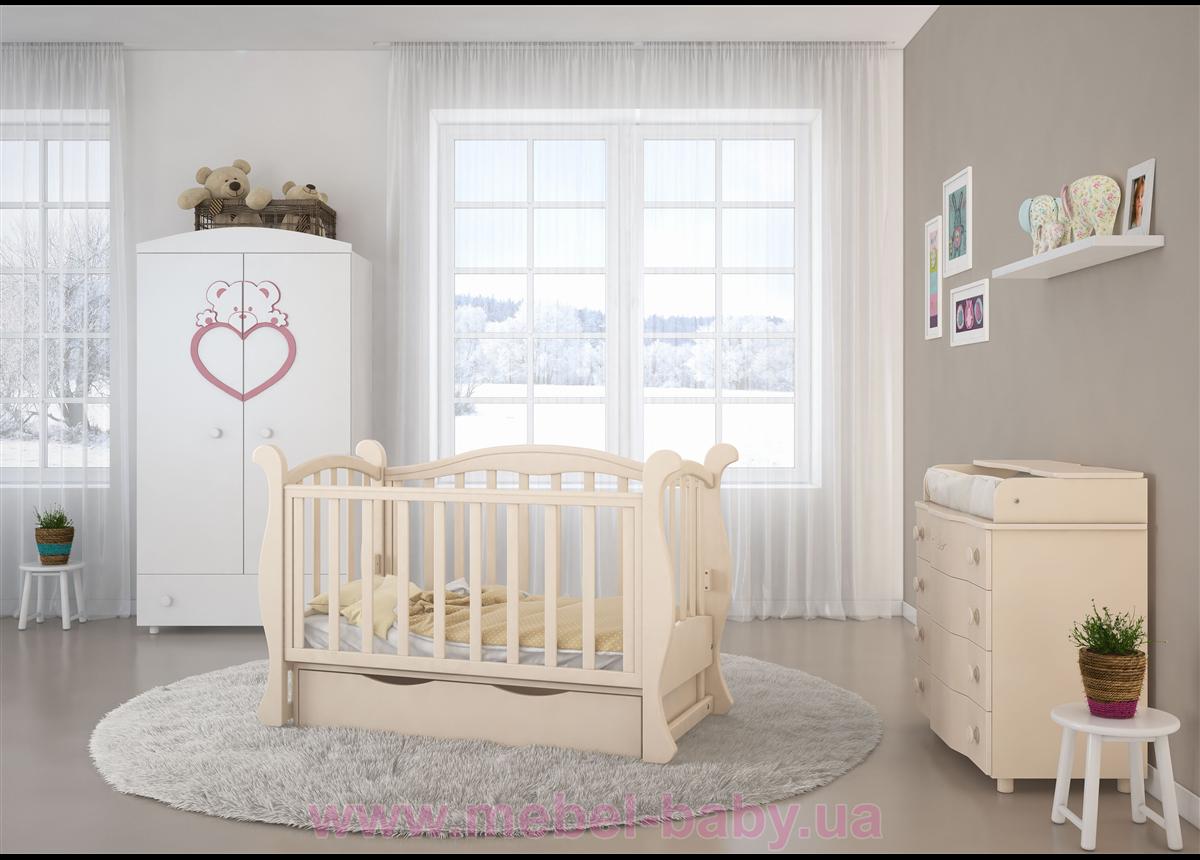 Кроватка детская LUX6 диванчик Angelo 1200x600 крем
