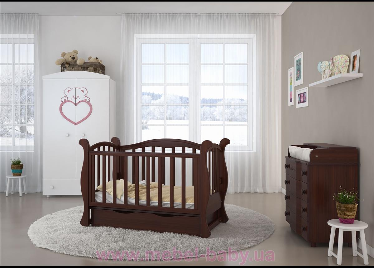 Кроватка детская LUX6 диванчик Angelo 1200x600 орех
