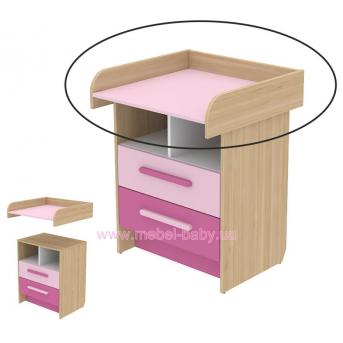 Пеленатор кв-09-2 Акварели Розовые Briz 72 см