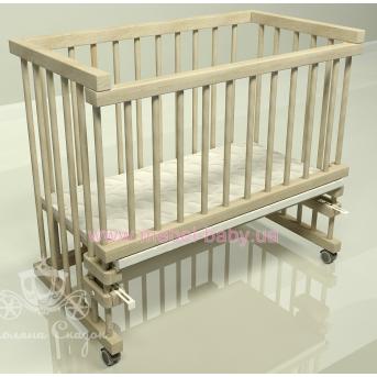 Приставная кроватка для новорожденных Multi-bed Classic стандарт Поляна сказок Ольха Шлиф  45x80