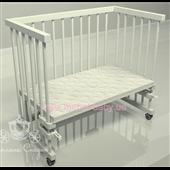 Приставная кроватка для новорожденных Multi-bed Classic стандарт Поляна сказок Ольха Белая 45х80