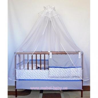 ДБ033 Спальный набор в детскую кровать комбинированный 9 предметов (балдахин фатин)