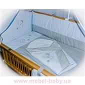 """Спальний набір в дитячу ліжечко (без балдахіна) """"Песики"""" 8 предметів ДБ034/1"""