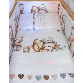ДБ061/5 Комплект постельного белья комбинированный с атласной лентой (для ДБ032)