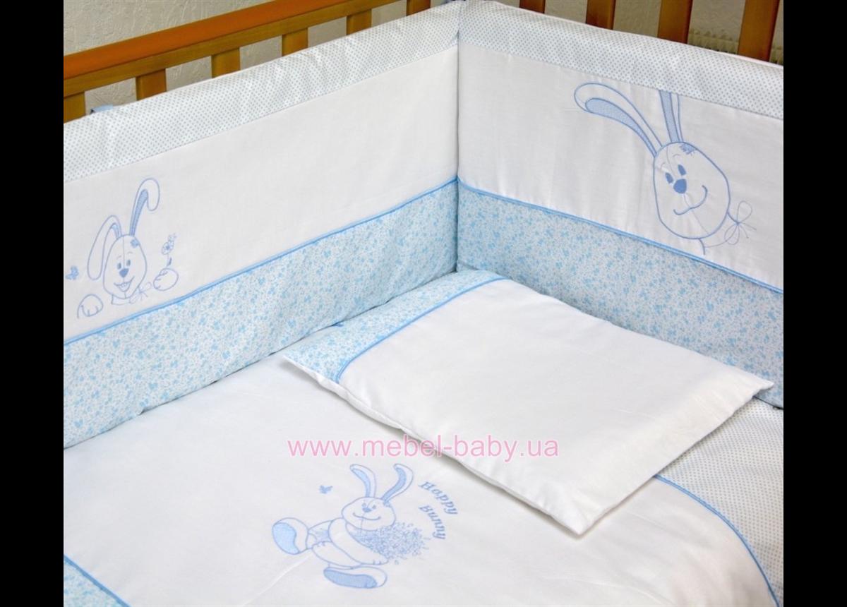 """Комплект постельного белья  Veres""""Happy Bunny blue"""" (6од.)"""