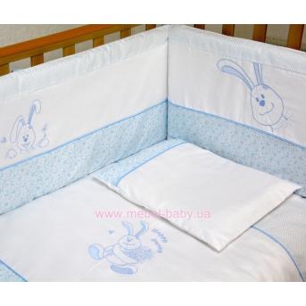 """Комплект постельного белья  Veres""""Happy Bunny blue"""" (7од.)"""