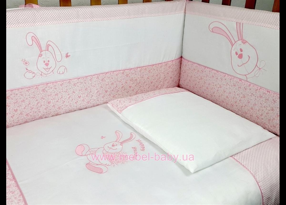 """Комплект постельного белья  Veres""""Happy Bunny pink"""" (6од.)"""