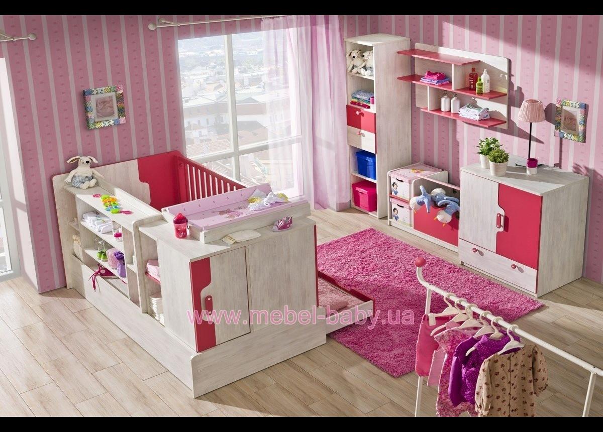 Кроватка-трансформер для новорожденных Nuki NU9 Dolmar (Польша) Сосна 120х60