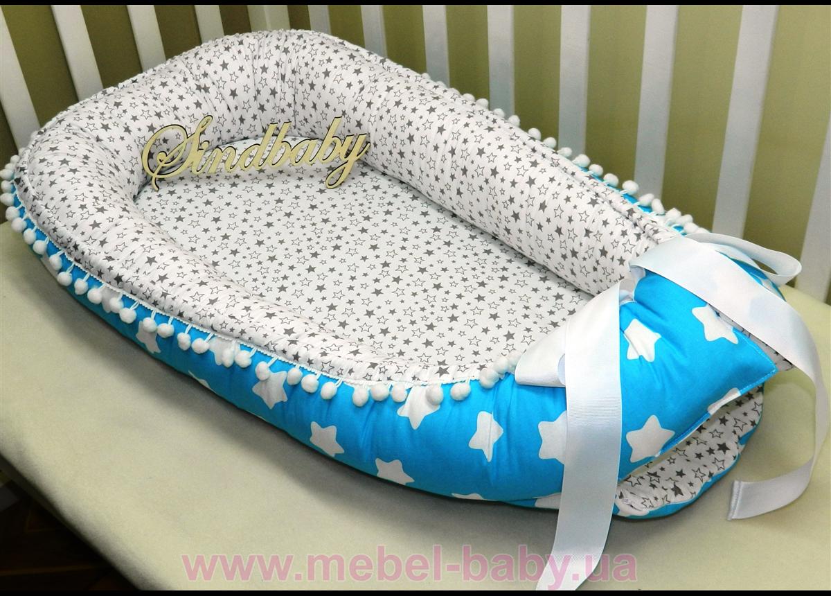 Гнездышко кокон позиционер для новорожденного BabyNest - 03