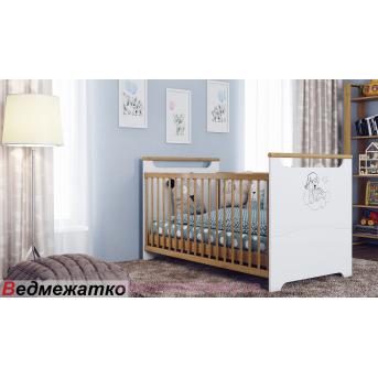 Кроватка-трансформер для новорожденных Венгер Белый 70х140