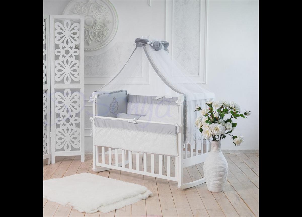 Набор постельного белья Family Kingdom (7 предметов) серый
