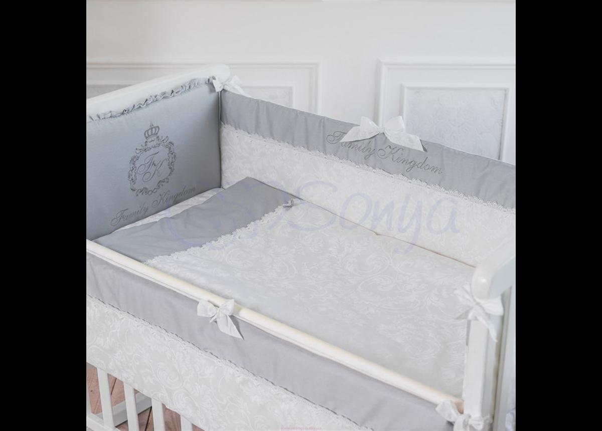 Набор постельного белья Family Kingdom (6 предметов) серый