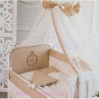 Спальный комплект постельного белья Family Kingdom кофейный